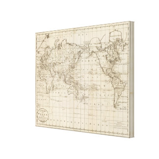 Chart of the World Stretched Canvas Prints