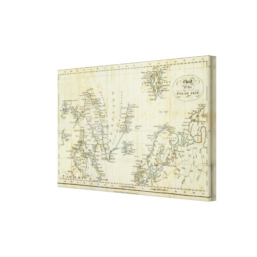 Chart, Polar Seas Gallery Wrap Canvas