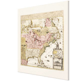Chart Quebec America News-France by French Canvas Print