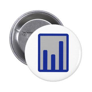 Chart statistics icon pins