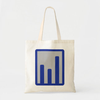 Chart statistics icon bags