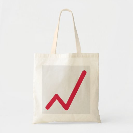 Chart statistics icon tote bags