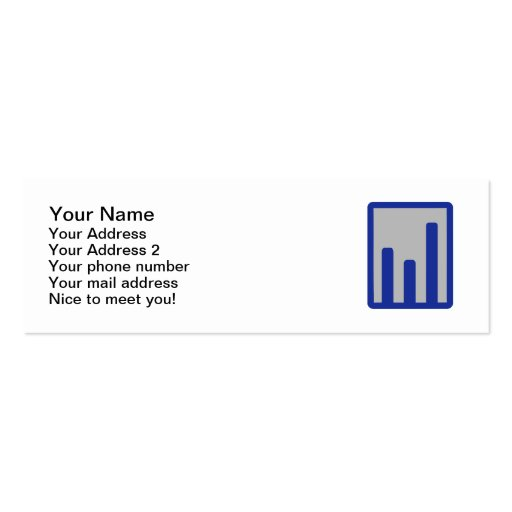 Chart statistics icon business card templates