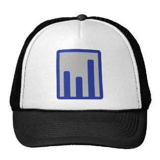 Chart statistics icon cap