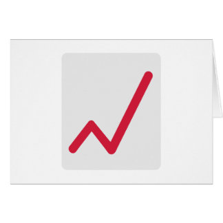 Chart statistics icon greeting card
