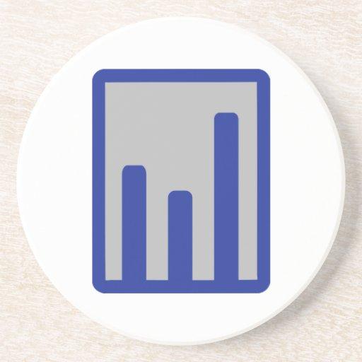 Chart statistics icon coasters