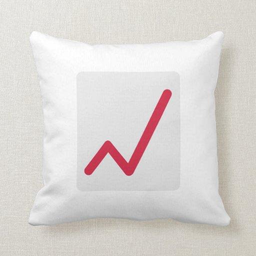 Chart statistics icon throw pillow