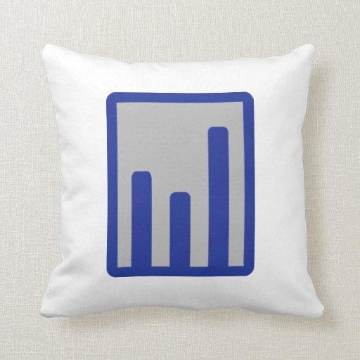 Chart statistics icon pillows