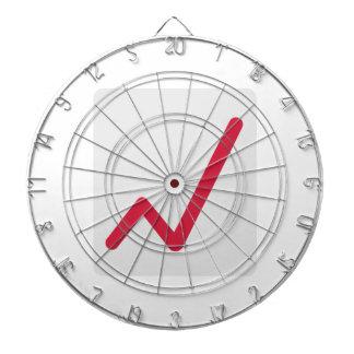 Chart statistics icon dartboard