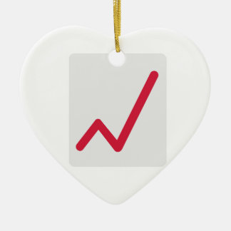 Chart statistics icon christmas ornament