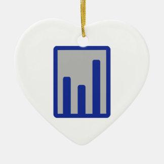 Chart statistics icon ornament