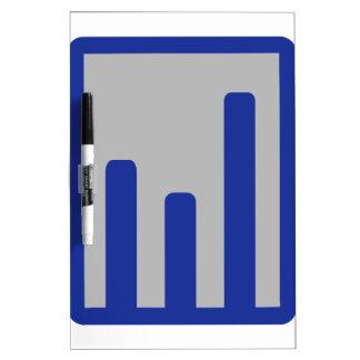 Chart statistics icon dry erase boards