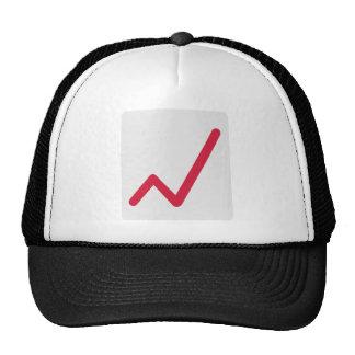 Chart statistics icon hat
