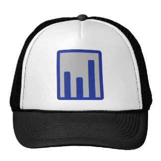 Chart statistics icon mesh hats