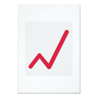 Chart statistics icon personalized invitation