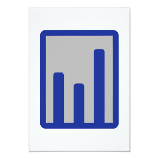 Chart statistics icon 9 cm x 13 cm invitation card