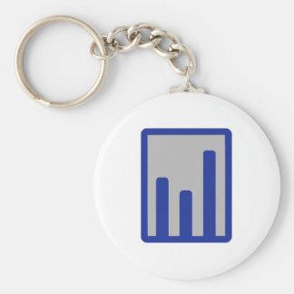 Chart statistics icon key chains