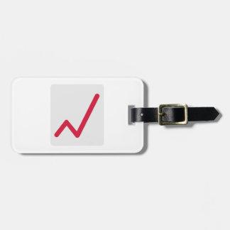 Chart statistics icon travel bag tag