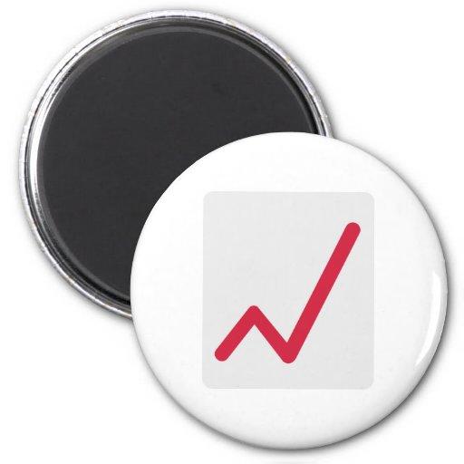 Chart statistics icon fridge magnets