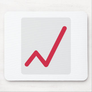 Chart statistics icon mouse pads