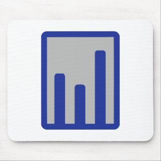 Chart statistics icon mousepad