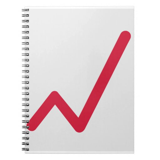 Chart statistics icon spiral notebooks