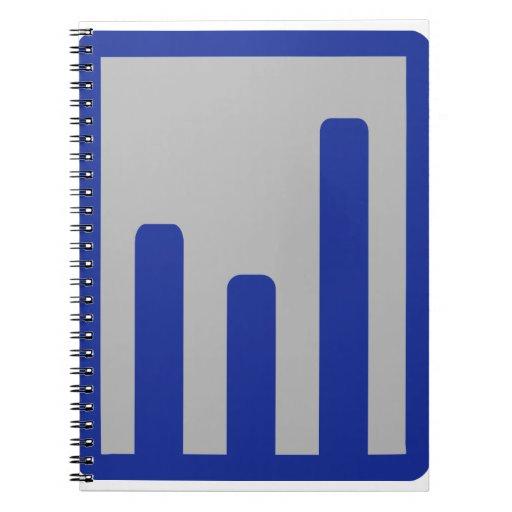 Chart statistics icon spiral note book