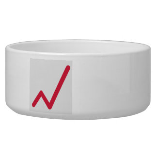 Chart statistics icon pet water bowl