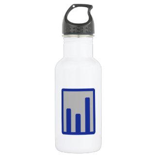 Chart statistics icon 532 ml water bottle