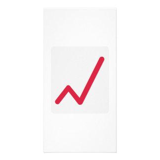 Chart statistics icon customized photo card