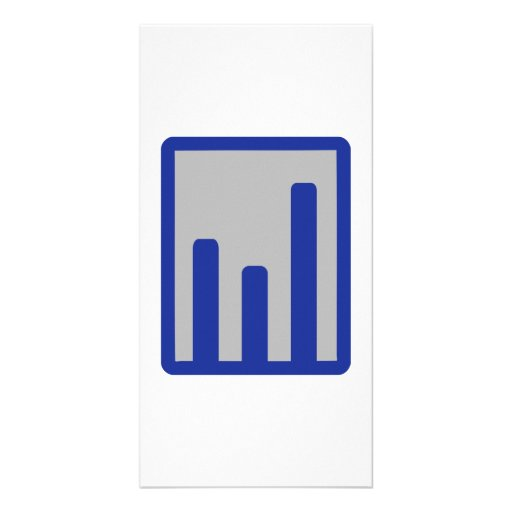 Chart statistics icon personalized photo card