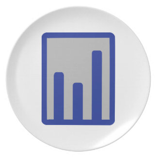 Chart statistics icon party plate