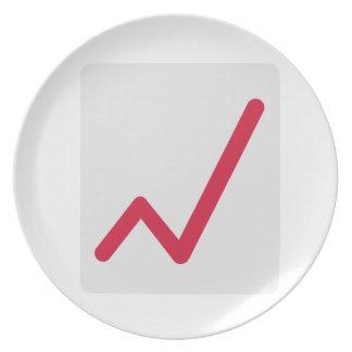 Chart statistics icon dinner plate