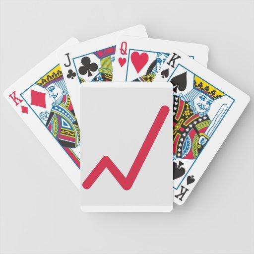 Chart statistics icon card deck