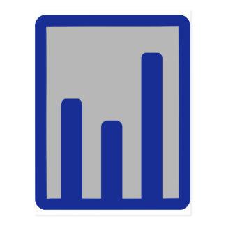 Chart statistics icon postcards