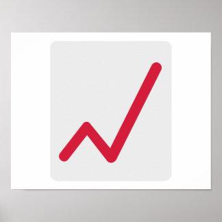 Chart statistics icon poster