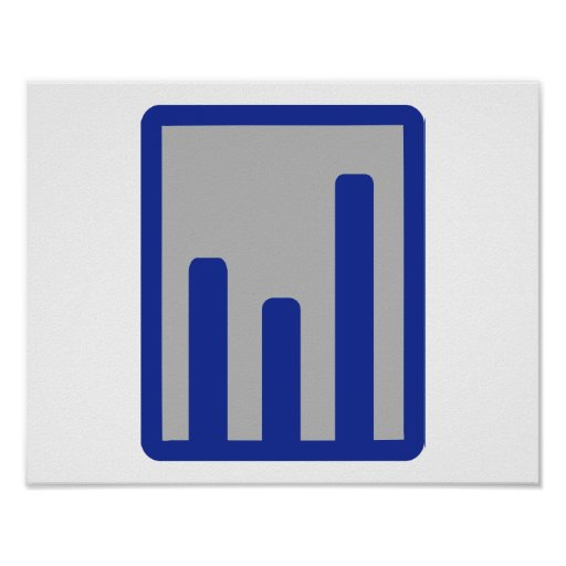 Chart statistics icon print