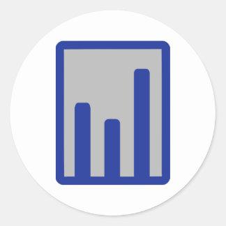 Chart statistics icon round sticker