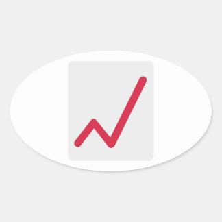 Chart statistics icon oval sticker