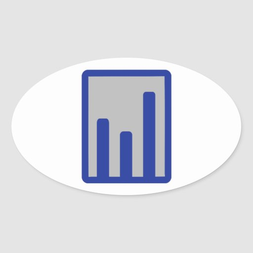 Chart statistics icon oval stickers