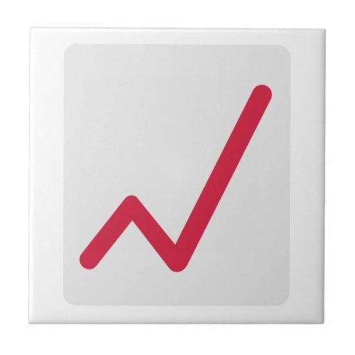 Chart statistics icon ceramic tiles