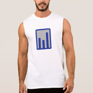 Chart statistics icon sleeveless tees
