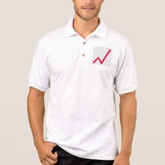 Chart statistics icon polo t-shirt