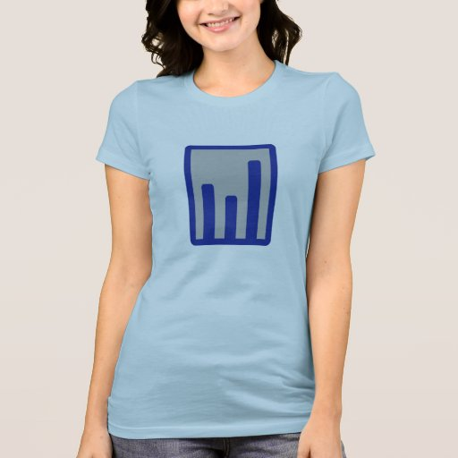 Chart statistics icon shirt