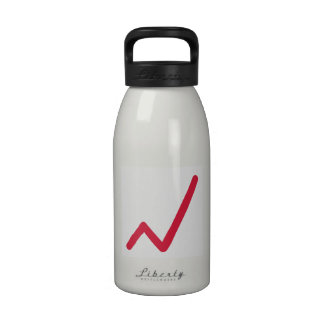 Chart statistics icon water bottle
