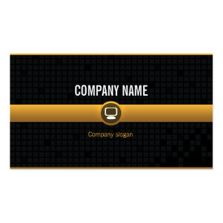 Chart visits - Professional yellow data processing Pack Of Standard Business Cards