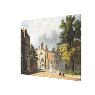 Charter House from the Square, from 'History of Ch Stretched Canvas Print