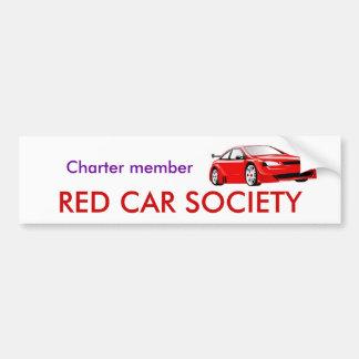 Charter member, RED CAR SOCIETY Car Bumper Sticker
