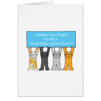 Chartered accountant Graduation Congratulations! Card