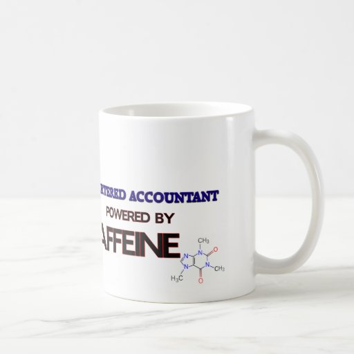Chartered Accountant Powered by caffeine Coffee Mugs